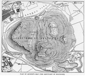 Map of the Sanctuary, 'Cassell's Old and New Edinburgh', Volume 4, page 304, 1860