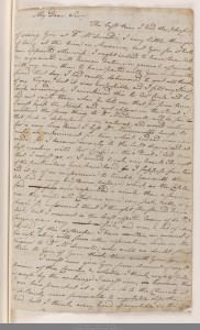 letter to thomas Russell page 1