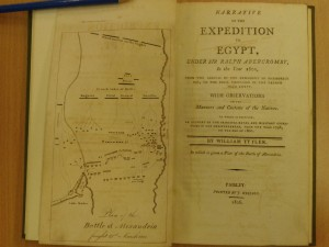 Book - Narrative of the Expedition to Egypt under Sir  Ralph Abercromby in the year 1801 - William Tytler, Paisley, 1810 (1)