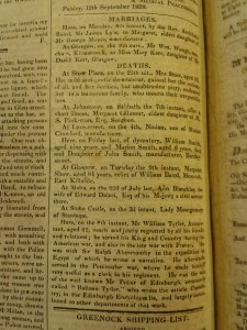 The Paisley Adveritiser, 12 September 1828, p4